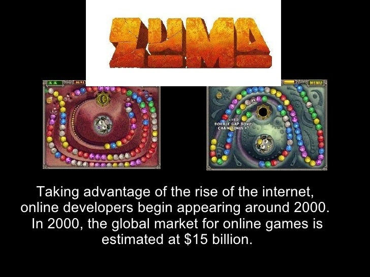 Taking advantage of the rise of the internet, online developers begin appearing around 2000.  In 2000, the global market f...