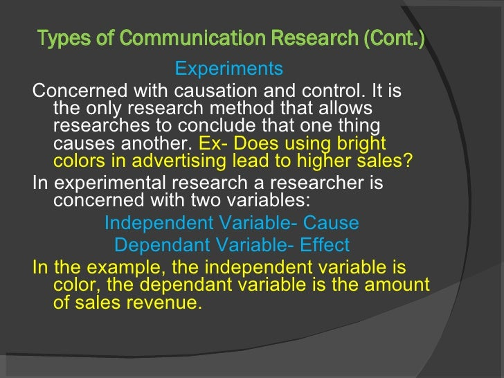 types of communication research In verbal interpersonal communication there are two types of messages being  research in communication has shown that confusion can lend legitimacy to research.