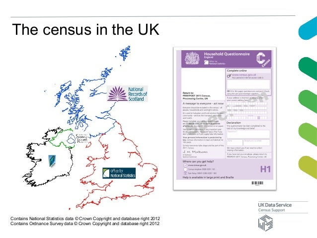 The census in the UKContains National Statistics data © Crown Copyright and database right 2012Contains Ordnance Survey da...