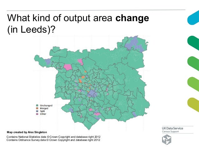 What kind of output area change(in Leeds)?Map created by Alex SingletonContains National Statistics data © Crown Copyright...
