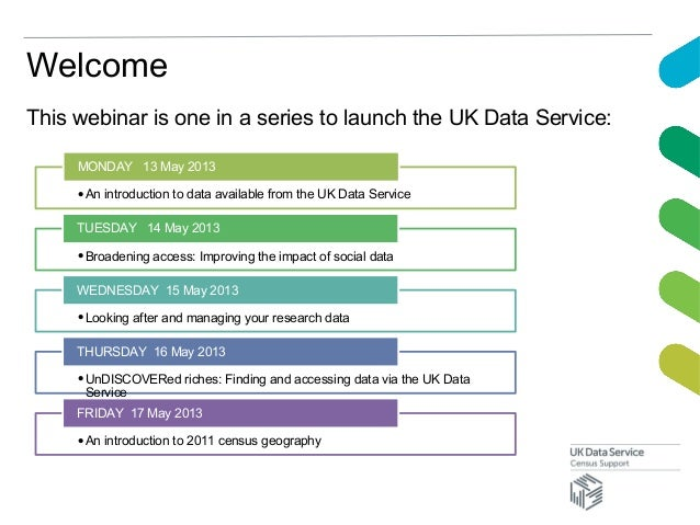 This webinar is one in a series to launch the UK Data Service:•An introduction to data available from the UK Data ServiceM...