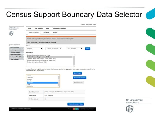 Census Support Boundary Data Selector