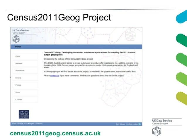 Census2011Geog Projectcensus2011geog.census.ac.uk