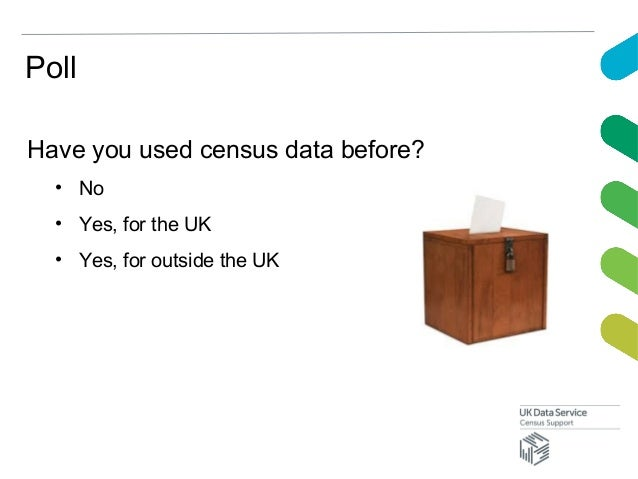 PollHave you used census data before?• No• Yes, for the UK• Yes, for outside the UK