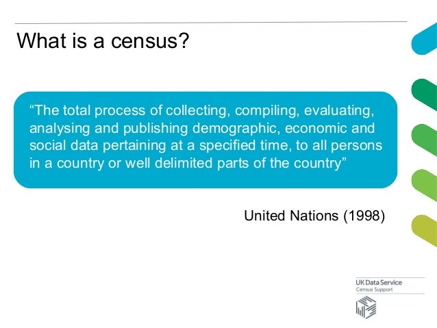 """What is a census?""""The total process of collecting, compiling, evaluating,analysing and publishing demographic, economic an..."""