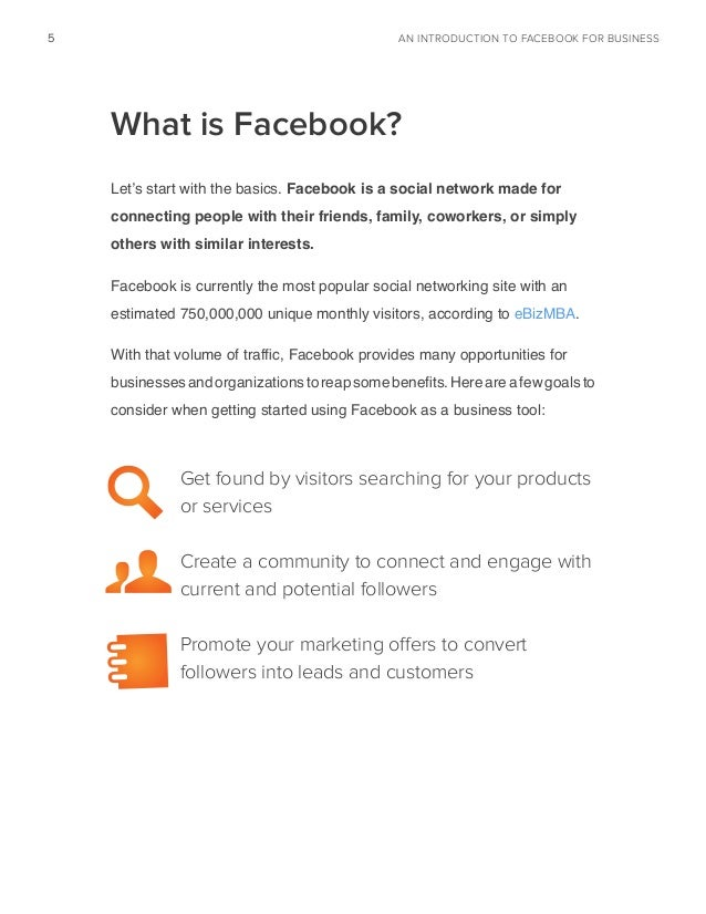 an introduction to facebook for business pdf