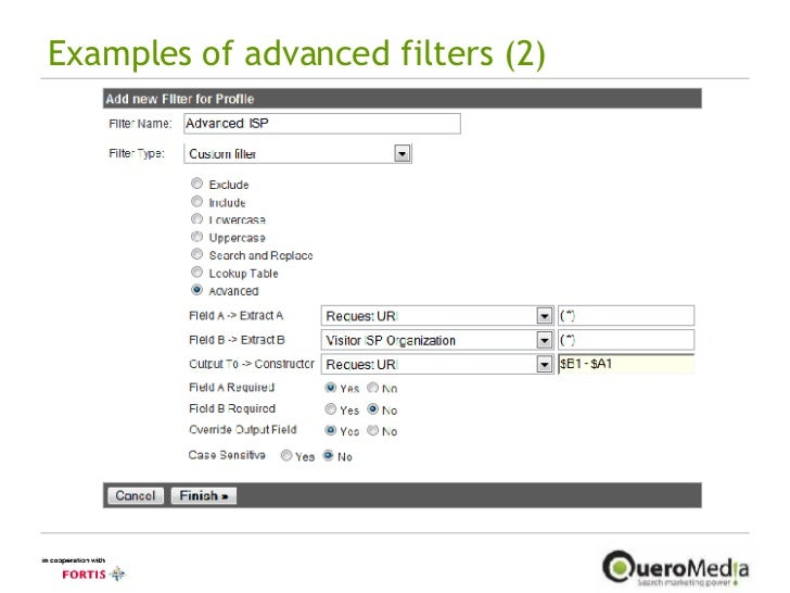 Examples of advanced filters (2)