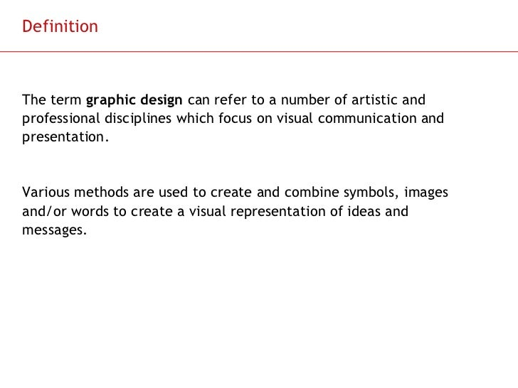 introduction and outline to graphic designers Scheme of syllabus for graphic design classes xi and xii introduction graphic design is the creative planning and execution of visual communication one learns to create a combination of shapes and forms, words and images, in order to reproduce them in.