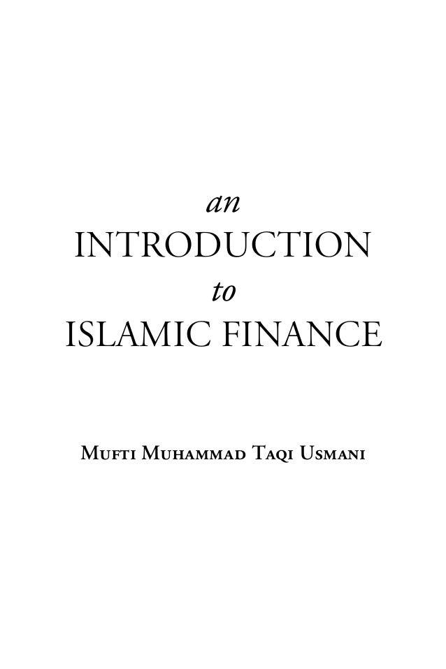 an Introduction       toIslamic Finance             =             =             =jìÑíá=jìÜ~ãã~Ç=q~èá=rëã~åá