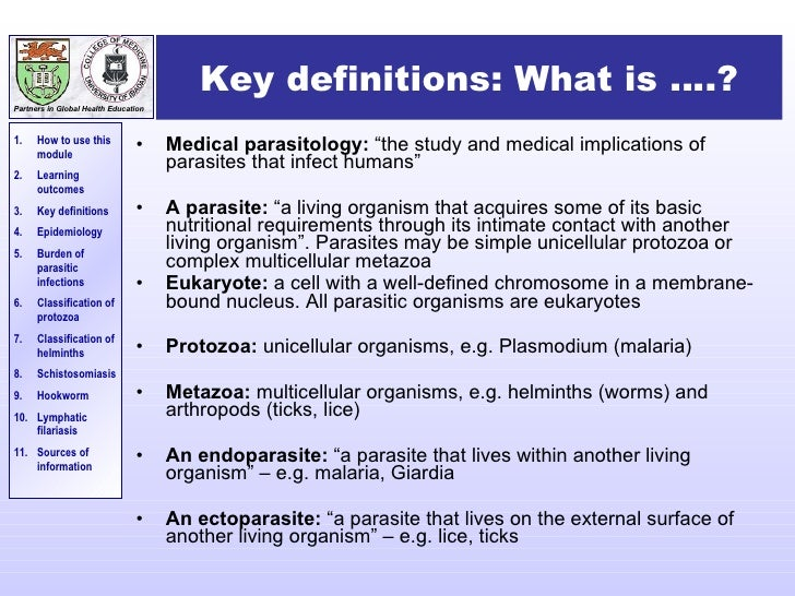 An introduction to Medical Parasitology