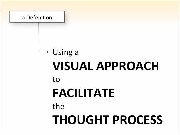 Using a VISUAL APPROACH to FACILITATE the THOUGHT PROCESS a  Defenition