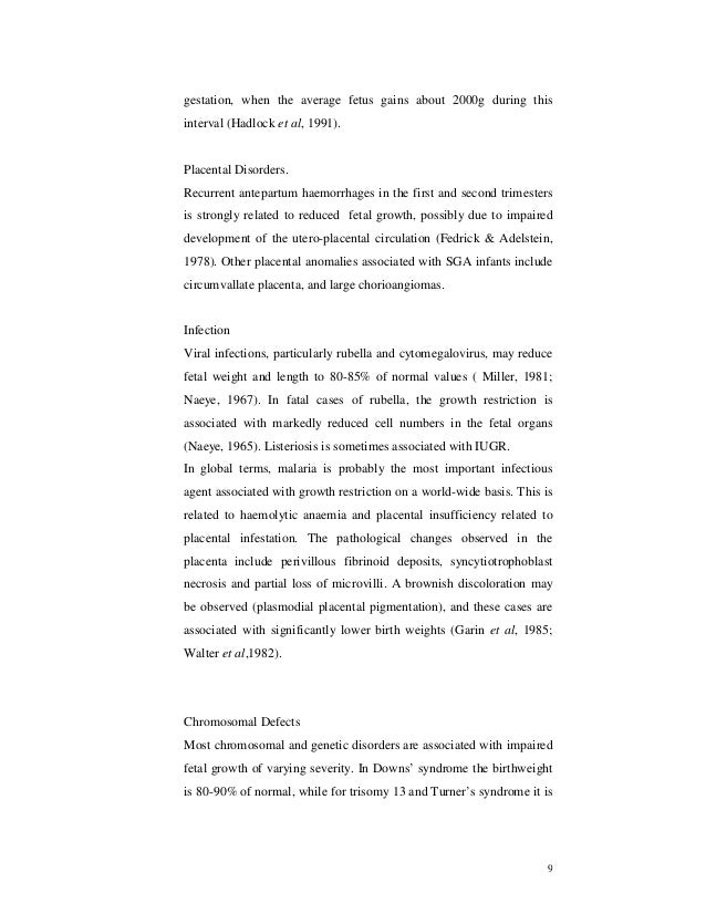 thesis on study of placental morphology in fetal growth restriction Previous article in issue: naming veins: by morphology, physiology or sociology previous article in issue: naming veins: by morphology, physiology or sociology next article in issue: the sequence of changes in doppler and biophysical parameters as severe fetal growth restriction worsens next article.