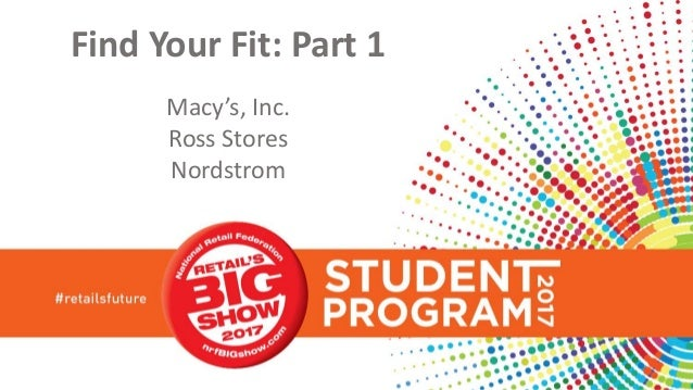 Find Your Fit: Part 1 Macy's, Inc. Ross Stores Nordstrom