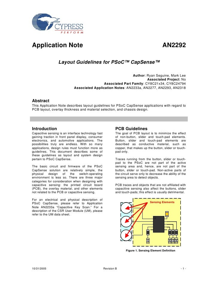 Application Note                                                                                AN2292                  La...