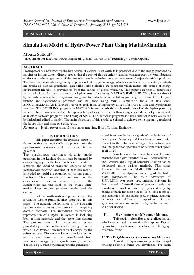 Mousa Sattouf Int. Journal of Engineering Research and Applications ISSN : 2248-9622, Vol. 4, Issue 1( Version 2), January...