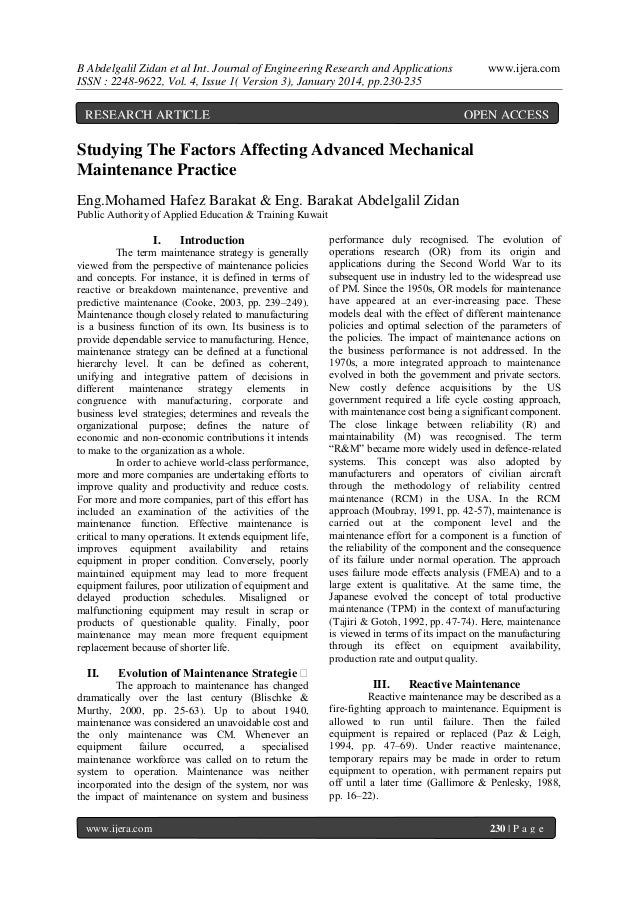 B Abdelgalil Zidan et al Int. Journal of Engineering Research and Applications ISSN : 2248-9622, Vol. 4, Issue 1( Version ...