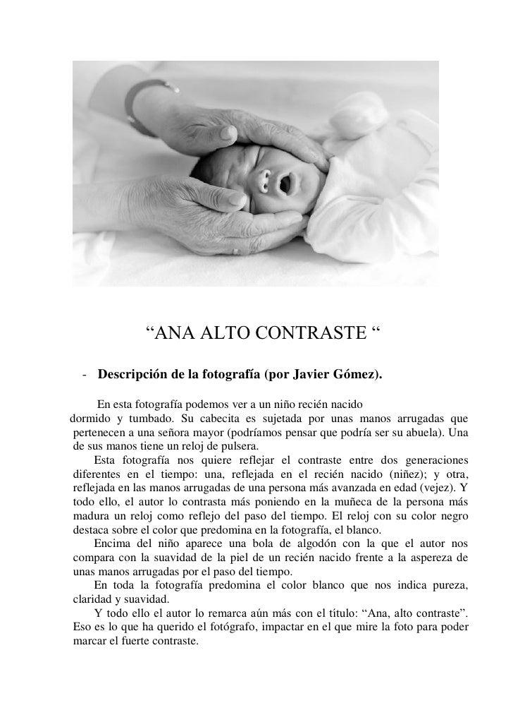 """""""ANA ALTO CONTRASTE """"  - Descripción de la fotografía (por Javier Gómez).       En esta fotografía podemos ver a un niño r..."""