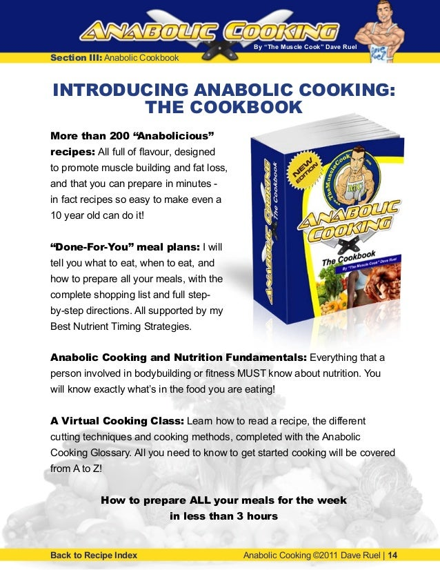 Anabolic cooking recipes - bodybuilding diet plan