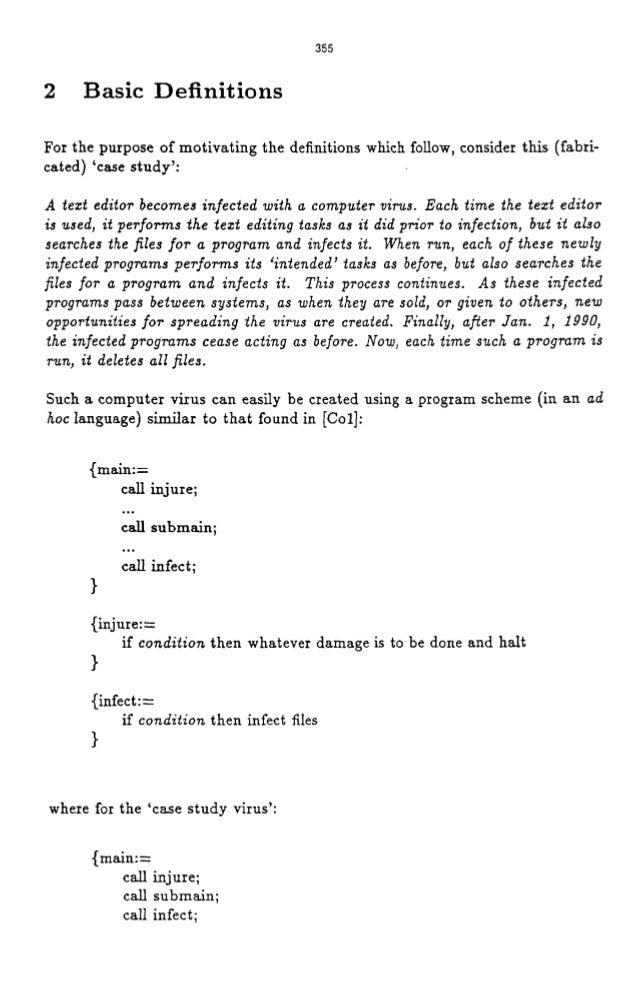 thesis on computer viruses