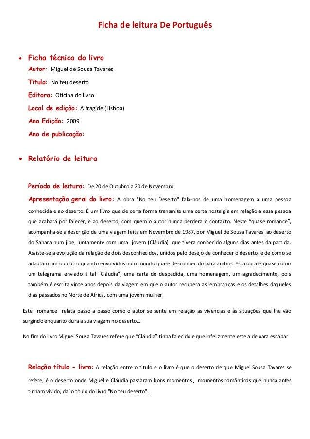 Ficha de leitura - Ana Carolina
