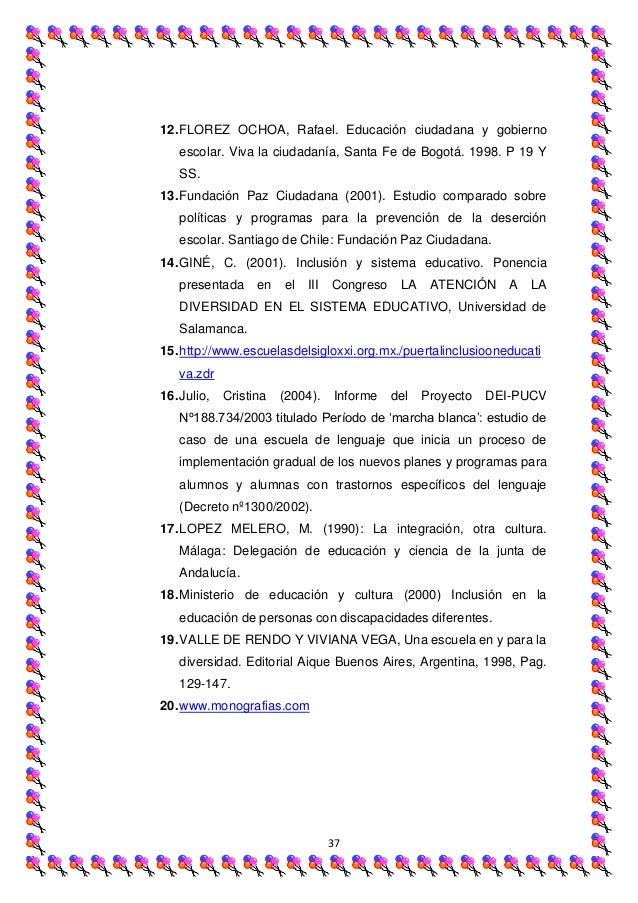 12. FLOREZ OCHOA, Rafael. Educación ciudadana y gobierno   escolar. Viva la ciudadanía, Santa Fe de Bogotá. 1998. P 19 Y  ...