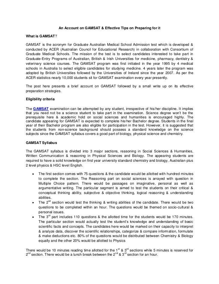 Gamsat Essay Practice Online - image 4