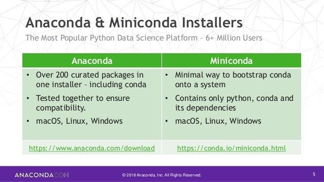 Anaconda Distribution Roadmap | Crystal Soja