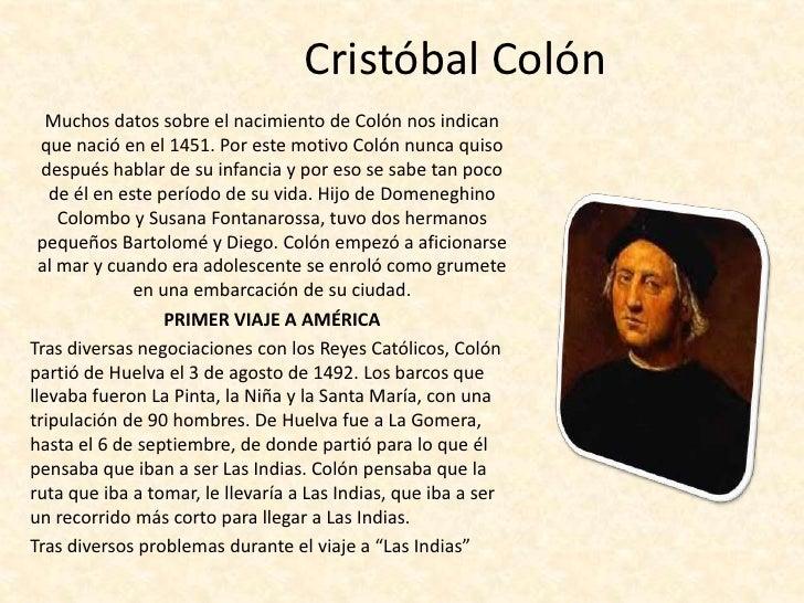 Datos biograficos de cristobal colon yahoo dating 4
