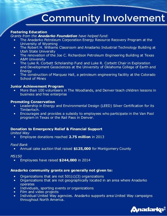 Anadarko and Apache - Sponsorship Research Report