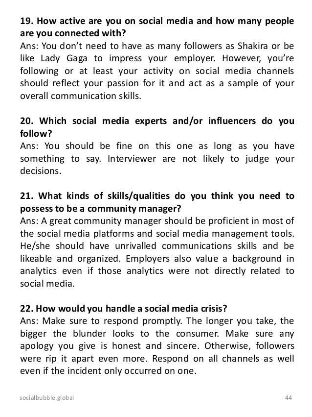 An advanced interview guide for online marketing professionals 44 socialbubbleobal fandeluxe Gallery
