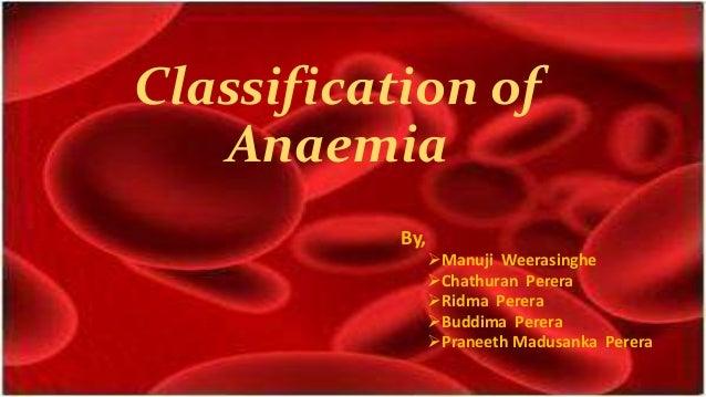 Classification of Anaemia By, Manuji Weerasinghe Chathuran Perera Ridma Perera Buddima Perera Praneeth Madusanka Pere...