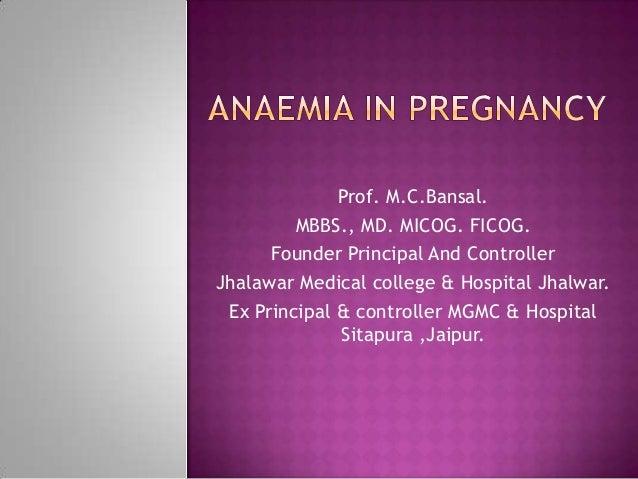 Prof. M.C.Bansal.         MBBS., MD. MICOG. FICOG.      Founder Principal And ControllerJhalawar Medical college & Hospita...