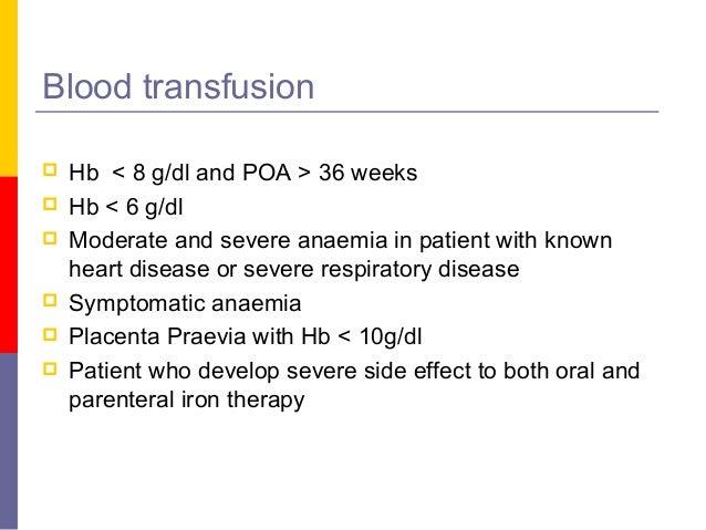 Anaemia in pregnancy