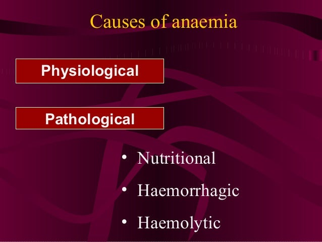 Anaemia In Pregnancy Vld
