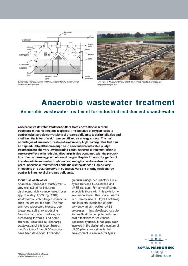 AHaskoning Nederland B.V. reference WAT-WCH-D0020E1-NIJ-1206 Anaerobic wastewater treatment Anaerobic wastewater treatment...