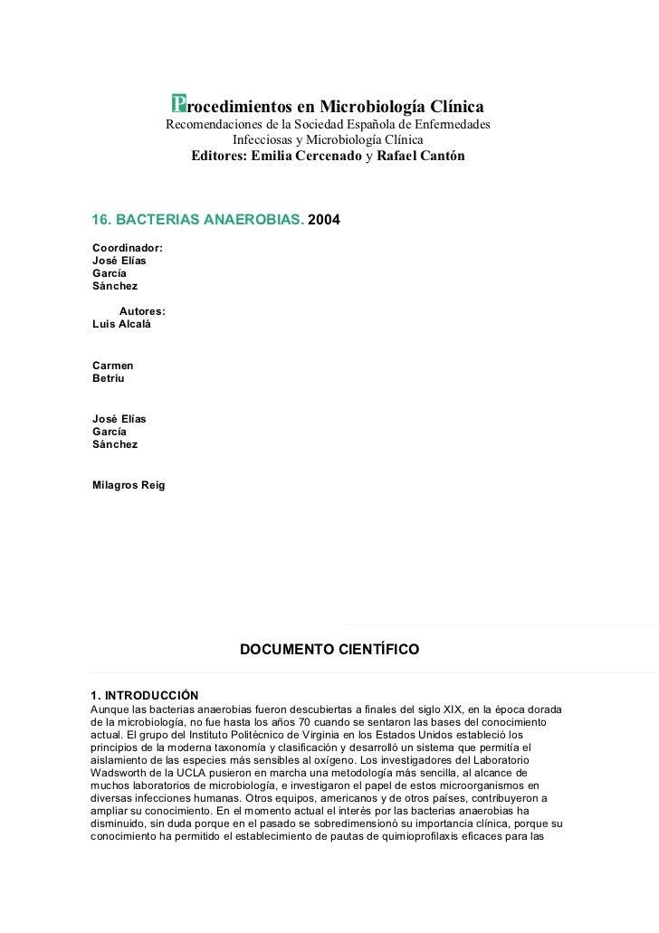rocedimientos en Microbiología Clínica                Recomendaciones de la Sociedad Española de Enfermedades             ...