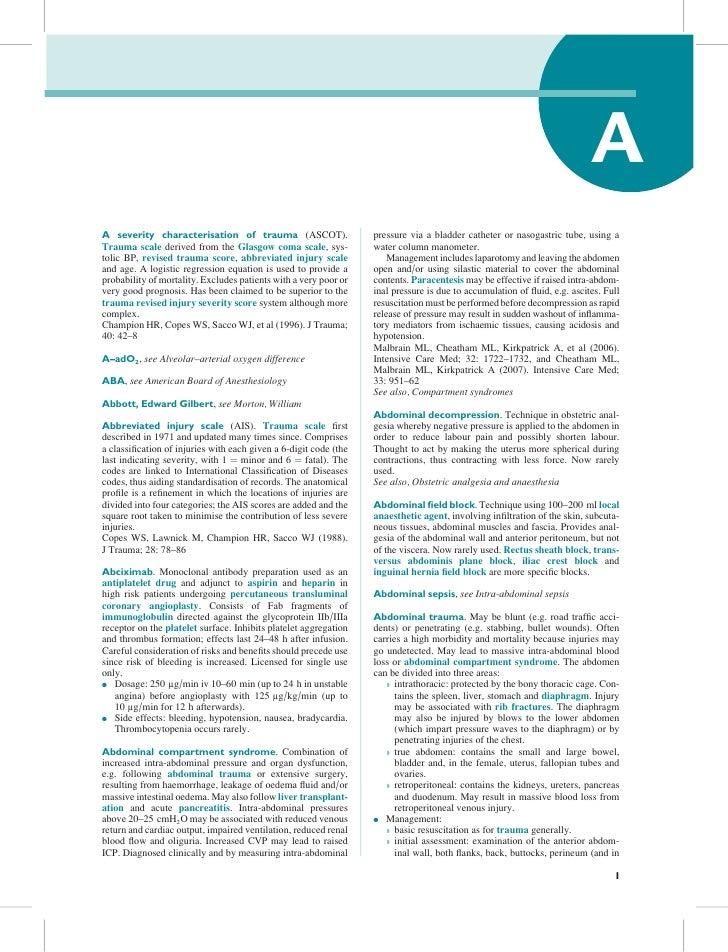 AA severity characterisation of trauma (ASCOT).                    pressure via a bladder catheter or nasogastric tube, us...