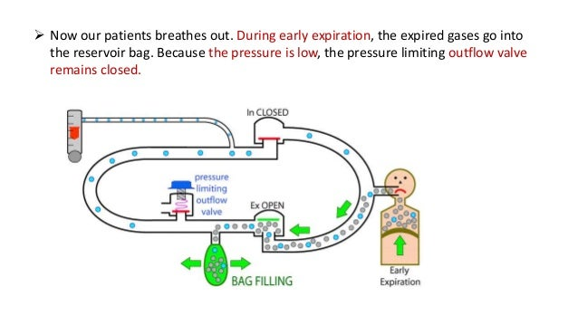 Let us include a CO2 absorber into our circle system. Now as the patient inspires, the CO2 containing gas from the reserv...