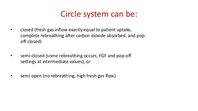 Disadvantages of Circle System • Greater size, less portability • Increased complexity – Higher risk of disconnection or m...