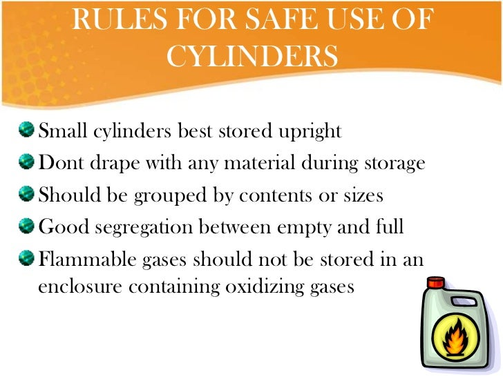 Gas Cylinders: Safe Use Of Gas Cylinders