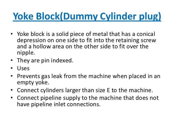 Yoke Block(Dummy Cylinder plug)<br />Yoke block is a solid piece of metal that has a conical  depression on one side to fi...