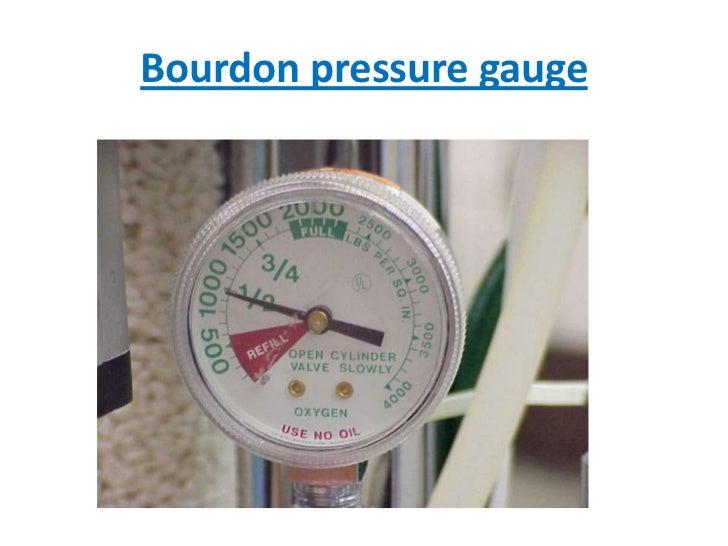 Bourdon pressure gauge<br />