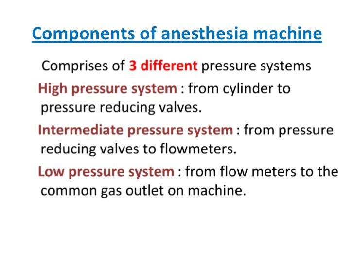 Components of anesthesia machine<br />