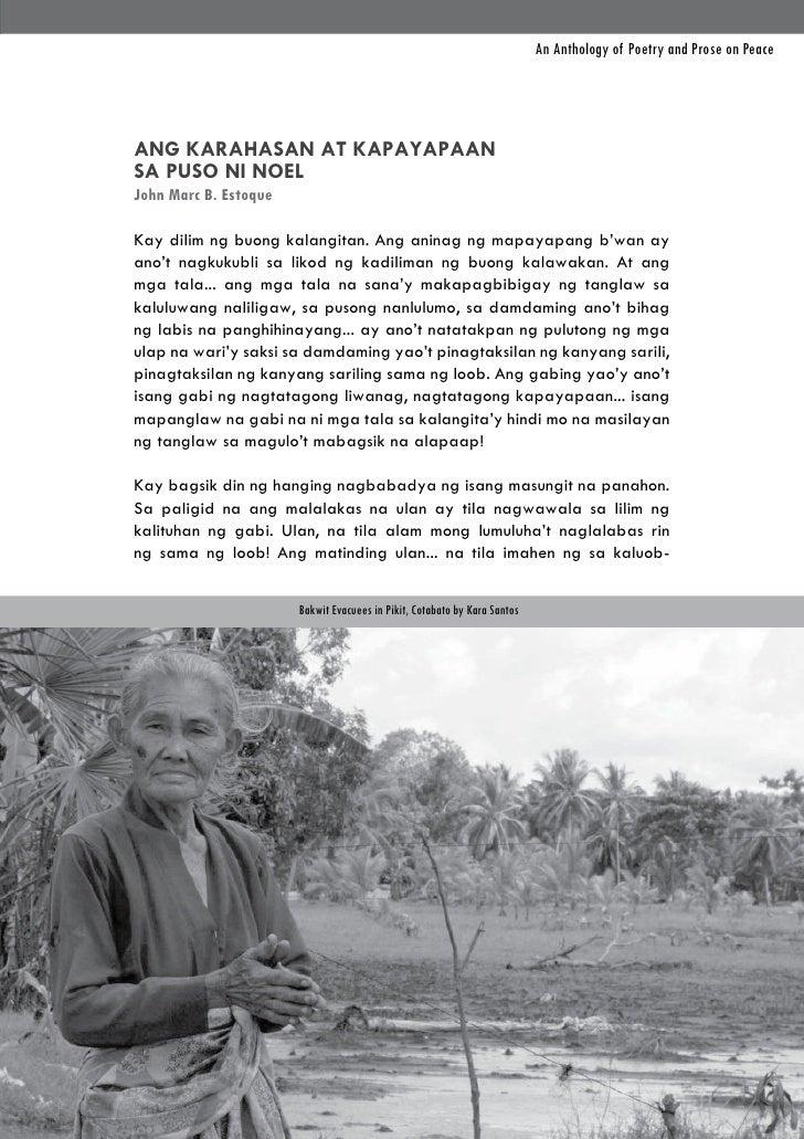 An Anthology of Poetry and Prose on PeaceANG KARAHASAN AT KAPAYAPAANSA PUSO NI NOELJohn Marc B. EstoqueKay dilim ng buong ...
