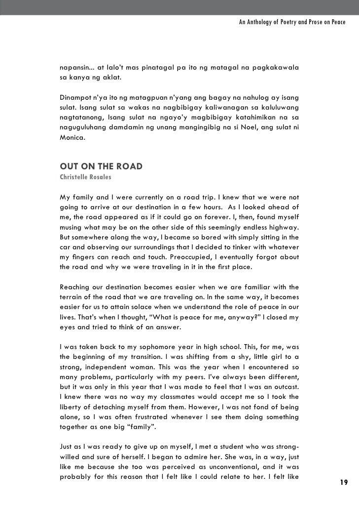 An Anthology of Poetry and Prose on Peacenapansin... at lalo't mas pinatagal pa ito ng matagal na pagkakawalasa kanya ng a...
