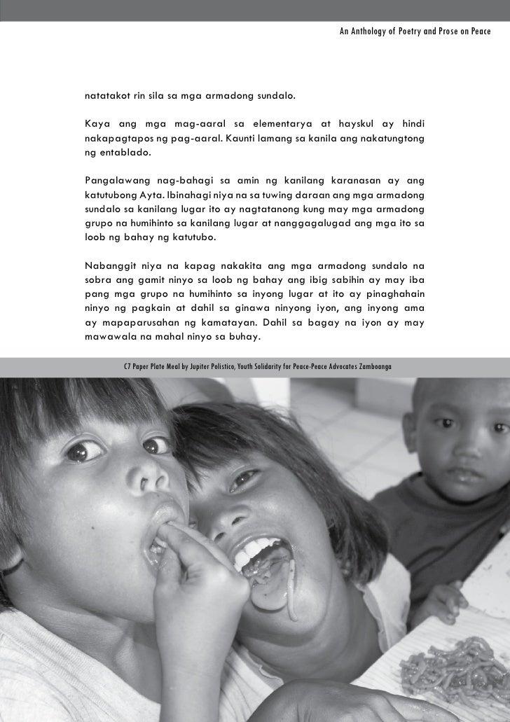 An Anthology of Poetry and Prose on Peacenatatakot rin sila sa mga armadong sundalo.Kaya ang mga mag-aaral sa elementarya ...