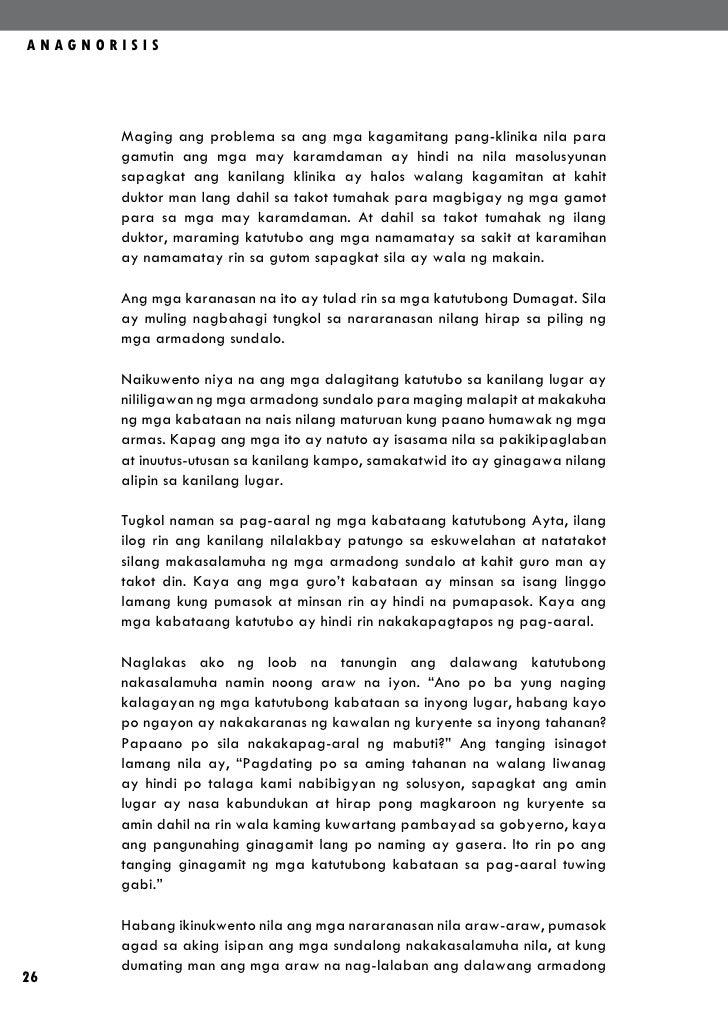 ANAGNORISIS       Maging ang problema sa ang mga kagamitang pang-klinika nila para       gamutin ang mga may karamdaman ay...