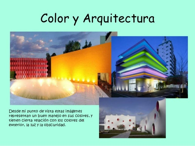 Fundamentos teoricos del dise o actividades realizadas en - El color en la arquitectura ...