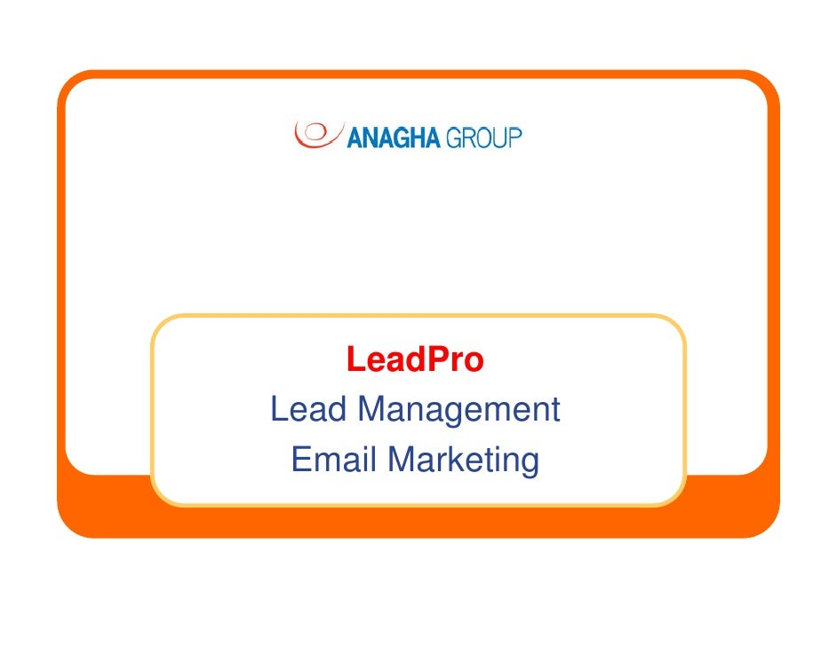 LeadPro Lead Management  Email Marketing