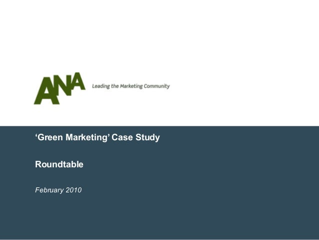 Case study of green marketing